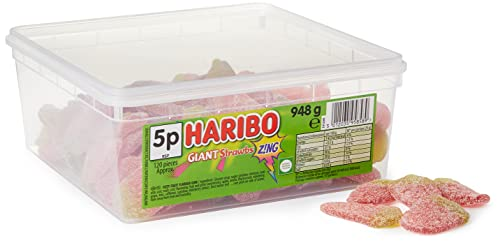 HARIBO Giant Sour Strawbs 120 Pieces from Haribo