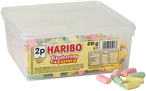 Haribo Rhubarb & Custard Candy Pieces - 600 Pack from Haribo