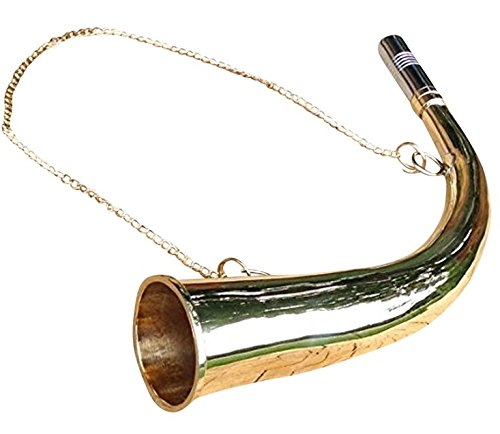 NEW HAND MADE SOLID BRASS FOX HUNTING HORN AUTHENTIC SOUND SHOOTING HUNT from Harrington Marley