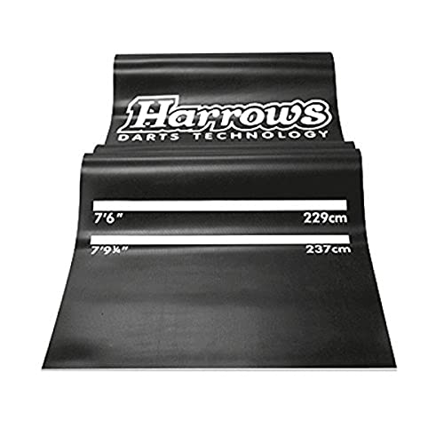 Harrows Professional Dart Mat - Black, 300cm from Harrows