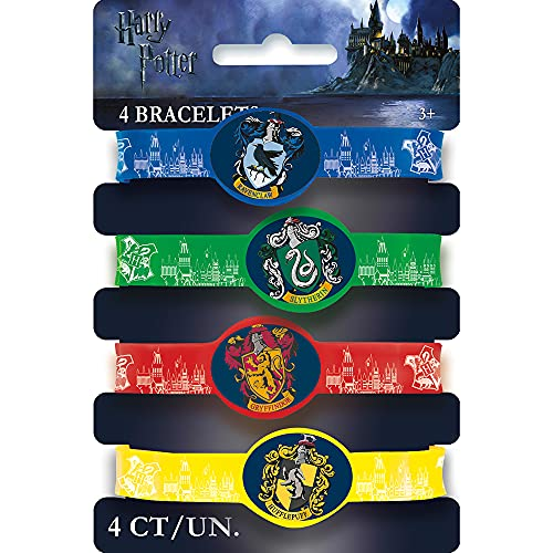 Unique Party 59068 - Harry Potter Silicone Wristband Party Bag Fillers, Pack of 4 from Unique Party