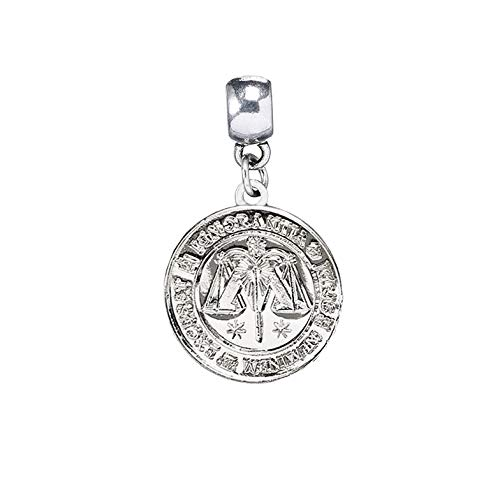 Official Silver Plated Ministry of Magic Symbol Logo Quill Slider Charm from Harry Potter