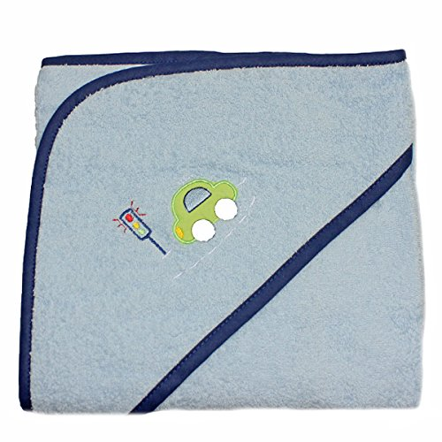 Harwoods Car Cuddle Robe Hooded Baby Towel, Blue from Harwoods