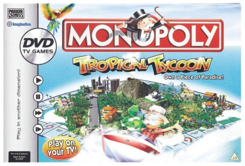 Monopoly Tropical  Tycoon DVD Game from Hasbro