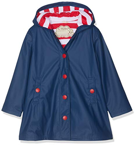 Hatley Girl's Splash Jacket, Blue (Navy/Red), 5 Years from Hatley