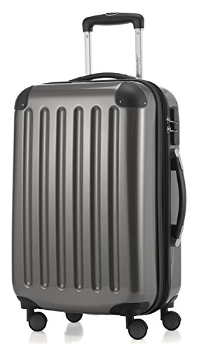 HAUPTSTADTKOFFER - Alex - Carry on luggage On-Board Suitcase Bag Hardside Spinner Trolley 4 Wheel Expandable, 55cm, titan from Hauptstadtkoffer