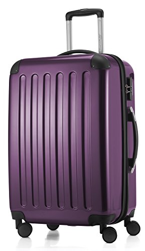 HAUPTSTADTKOFFER - Alex - Luggage Suitcase Hardside Spinner Trolley 4 Wheel Expandable, 65cm, purple from Hauptstadtkoffer