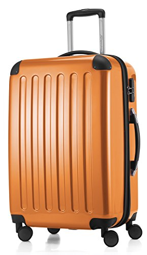 HAUPTSTADTKOFFER - Alex - Luggage Suitcase Hardside Spinner Trolley 4 Wheel Expandable, 65cm, orange from Hauptstadtkoffer