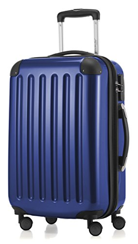 HAUPTSTADTKOFFER - Alex - Carry on luggage On-Board Suitcase Bag Hardside Spinner Trolley 4 Wheel Expandable, 55cm, dark blue from Hauptstadtkoffer