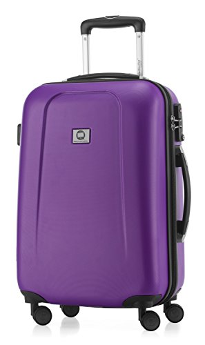 HAUPTSTADTKOFFER - Wedding - Hand luggage Carry on luggage Hardside Hard Shell suitcase Trolley, approved for baggage regulations of almost every Airline, TSA, 55 cm, 42 Lite, Purple from Hauptstadtkoffer