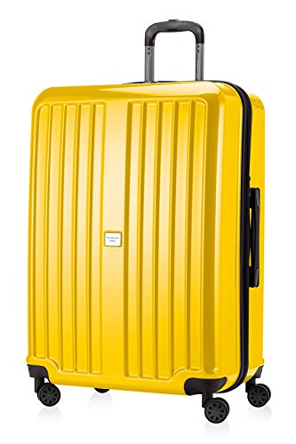 HAUPTSTADTKOFFER - X-Berg - Luggage Suitcase Hardside Spinner Trolley 4 Wheel Expandable TSA, 75 cm, 126 Liter, Yellow glossy from Hauptstadtkoffer