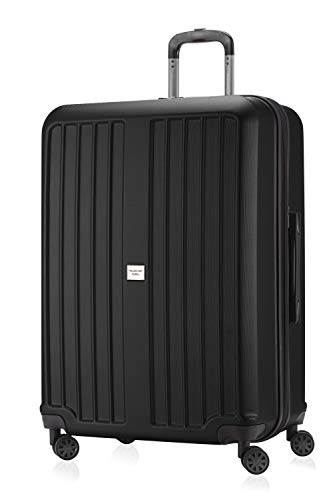 HAUPTSTADTKOFFER - X-Berg - Carry on luggage On-Board Suitcase Cabin Bag Hardside Spinner Trolley 4 Wheel, TSA, 55 cm,Black mat from Hauptstadtkoffer