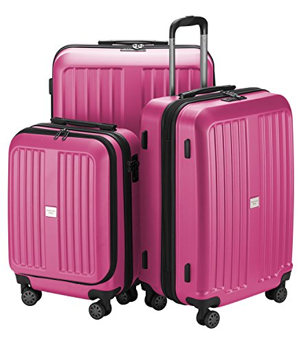 HAUPTSTADTKOFFER - X-Berg - Luggage Suitcase Hardside Spinner Trolley 4 Wheel Expandable, TSA, 75 cm, Pink mat from Hauptstadtkoffer