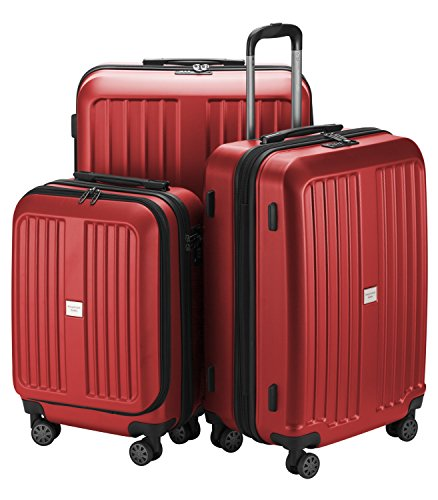 HAUPTSTADTKOFFER - X-Berg - Luggage Suitcase Hardside Spinner Trolley 4 Wheel Expandable, TSA, 75 cm, Red mat from Hauptstadtkoffer