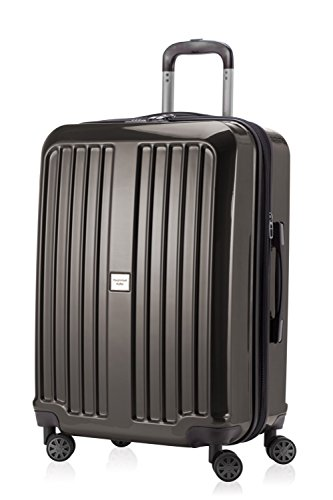 HAUPTSTADTKOFFER - X-Berg - Luggage Suitcase Hardside Spinner Trolley 4 Wheel Expandable TSA, 65 cm, 90 Liter, Graphite glossy from Hauptstadtkoffer