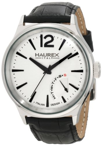 Haurex Italy 6A341US1 Mens Elegant Grand Class Silver Dial Watch from Haurex