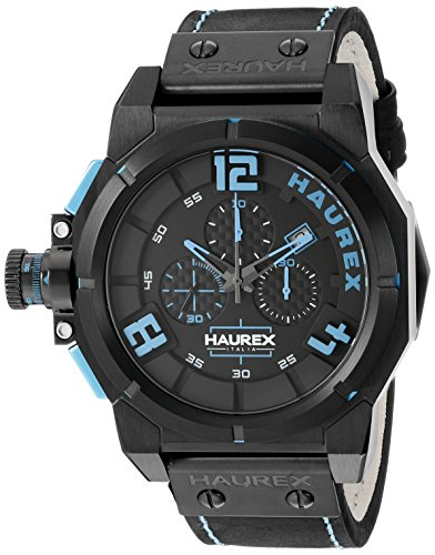 Haurex Italy Men's 6N510UBB Space Chrono Analog Display Quartz Black Watch from Haurex