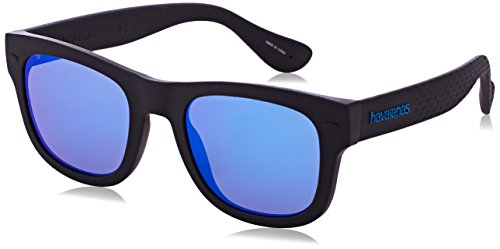Havaianas Unisex's PARATY/M Z0 O9N 50 Sunglasses, Black/Blue Blue from Havaianas