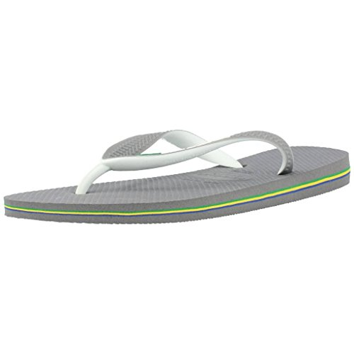 Havaianas Brasil Mix, Unisex-Adult Flip Flops Flip Flops, (Steel Grey/White/White), 5 UK (39/40 EU) (37/38 Brazilian) from Havaianas