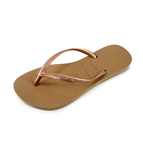 Havaianas Women's Slim Flip Flops, Beige (Rose Gold), 8 UK (43/44 EU), 41/42 BR from Havaianas