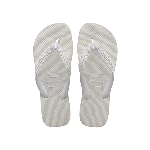 01cd994ebfe94b Havaianas Unisex Adults  Flip Flops White (White 0001) - 5 UK from Havaianas