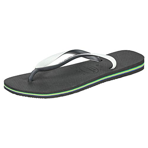 Havaianas Brasil Mix Unisex Adult's Flip Flops, BLACK/WHITE, 33/34 EU from Havaianas