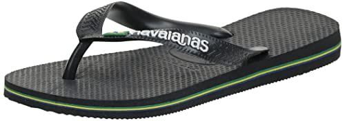 Havaianas Kid's Brazilianasil Logo Flip Flops, Black(Black/Black),12 UK ,31/32 EU (29/30 Brazilian) from Havaianas