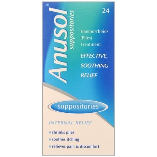HayMax Anusol Suppositories 24 Haemorrhoid Pain Relief Suppositories from Hay Max