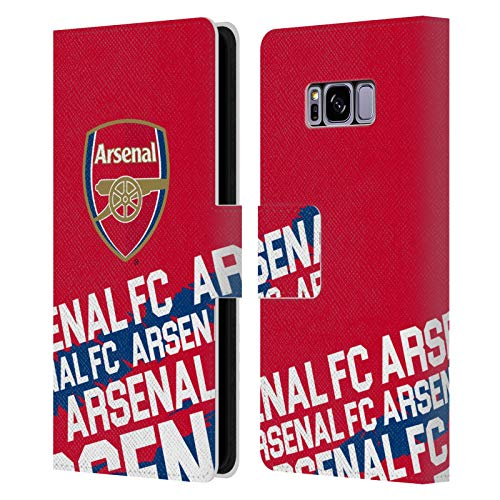 Official Arsenal FC Impact 2018/19 Crest And Gunners Logo Leather Book Wallet Case Cover Compatible For Samsung Galaxy S8 from Head Case Designs