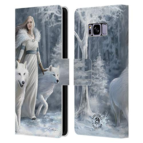 Official Anne Stokes Winter Guardians Wolves Leather Book Wallet Case Cover Compatible For Samsung Galaxy S8 from Head Case Designs