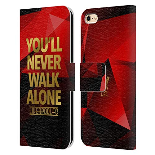 Official Liverpool Football Club Red Geo Ynwa Plain Liver Bird Ynwa PU Leather Book Wallet Case Cover Compatible For Apple iPhone 6 / iPhone 6s from Head Case Designs
