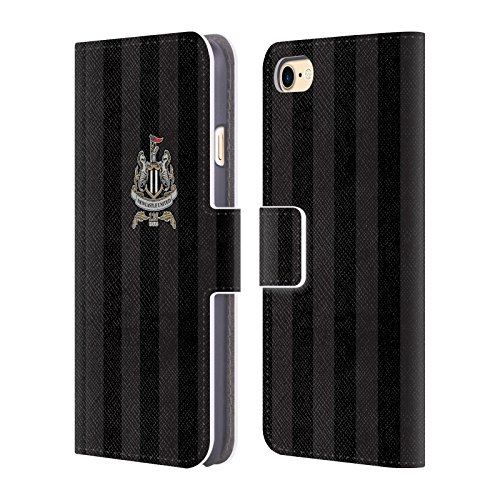 Official Newcastle United FC NUFC Third Shirt Crest & Patterns Leather Book Wallet Case Cover Compatible For Apple iPhone 7 / iPhone 8 / iPhone SE 2020 from Head Case Designs