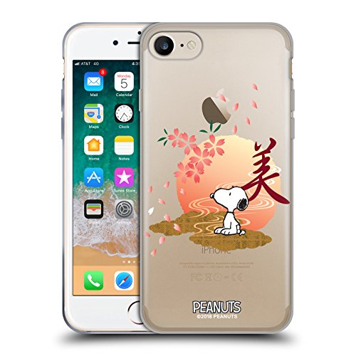 Official Peanuts Sakura Oriental Snoopy Soft Gel Case Compatible for Apple iPhone 7 / iPhone 8 / iPhone SE 2020 from Head Case Designs