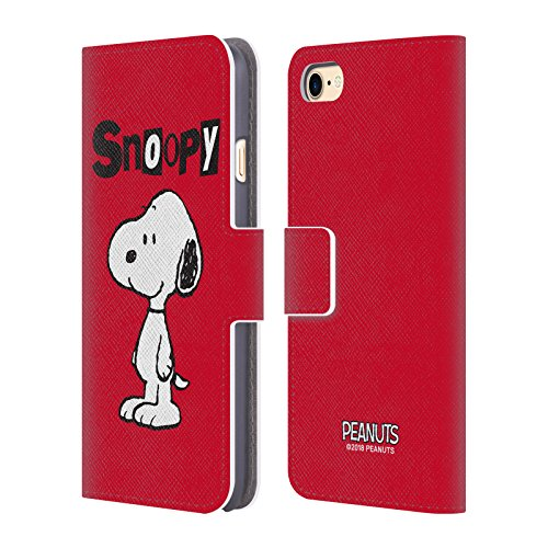 Official Peanuts Snoopy Characters Leather Book Wallet Case Cover Compatible For Apple iPhone 7 / iPhone 8 / iPhone SE 2020 from Head Case Designs