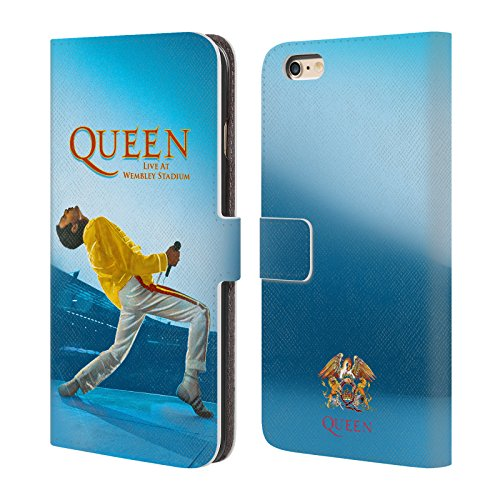 Official Queen Freddie Mercury Live At Wembley Key Art Leather Book Wallet Case Cover Compatible For Apple iPhone 6 Plus/iPhone 6s Plus from Head Case Designs