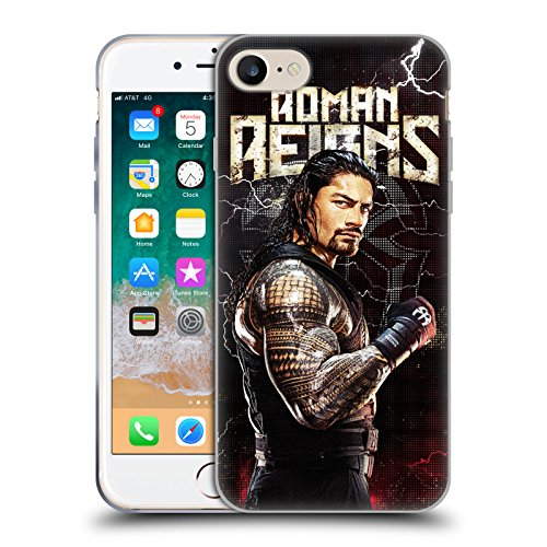 Official WWE Roman Reigns Superstars Soft Gel Case Compatible for Apple iPhone 7 / iPhone 8 / iPhone SE 2020 from Head Case Designs