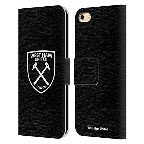 Official West Ham United FC White Logo Crest Leather Book Wallet Case Cover Compatible For Apple iPhone 6 / iPhone 6s from Head Case Designs