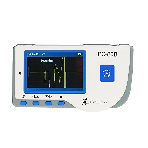Heal Force PC-80B Easy Handheld Portable ECG Monitor With 3-Lead ECG Cable, ECG Electrodes, Software & USB Cable CE Approved from Heal Force
