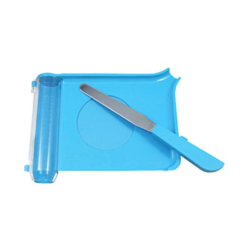 Healifty 1 Set Pill Counting Tray and Spatula Set Pill Dispenser Counter (Blue) from Healifty