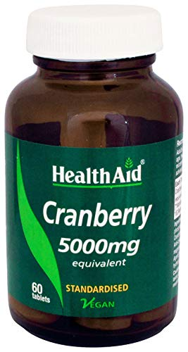 HealthAid Cranberry 5000mg - 60 Vegan Tablets from HealthAid
