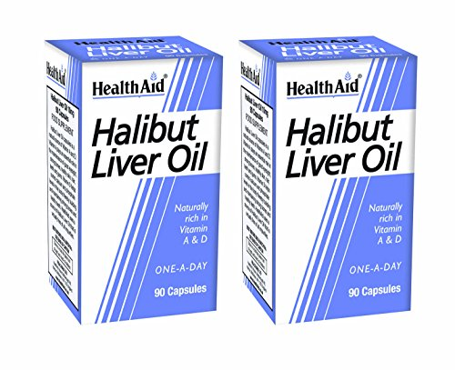 HealthAid Halibut Liver Oil Pack of 2 x 90 Capsules (180 Capsules) from HealthAid