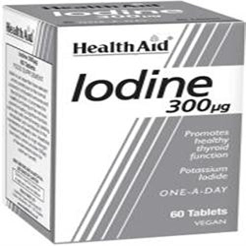 HealthAid Iodine 300mcg 60 Vegan Tablets from HealthAid