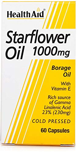 HealthAid Starflower Oil 1000mg (23% GLA) - 60 Capsules from HealthAid