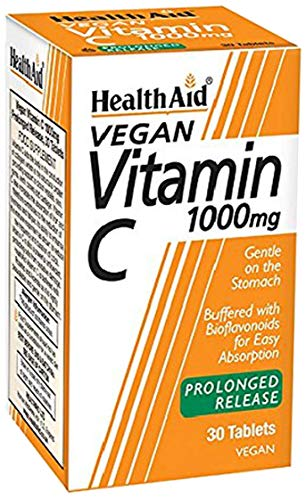 HealthAid Vitamin C 1000mg - Prolong Release - 30 Vegan Tablets from HealthAid