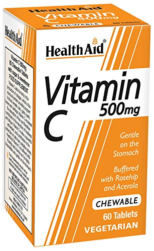 HealthAid Vitamin C - Chewable Vegetarian Tablets, 500mg, 60 Tablets from HealthAid