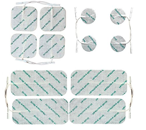 Healthcare World Set Of 12 Mixed Tens Pads fits most Tens machines TPN NeuroTrac Tenscare Lloyds Tens machines from Healthcare World