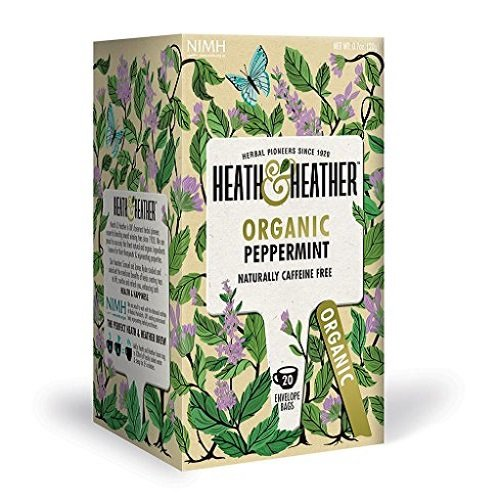 Heath and Heather Organic Peppermint Herbal Infusions 20 Teabags (Pack of 6, Total 120 Teabags) from Heath & Heather
