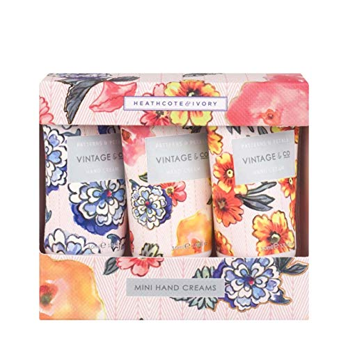 Vintage & Co Patterns and Petals Mini Hand Creams, 30 ml, Pack of 3 from Vintage & Co Beauty