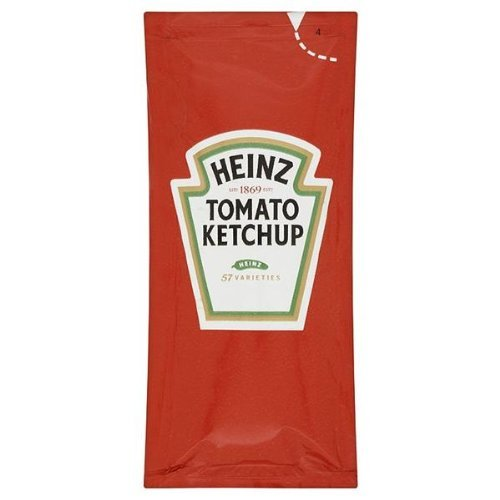 100 Heinz Tomato Ketchup Individual sachets from Heinz