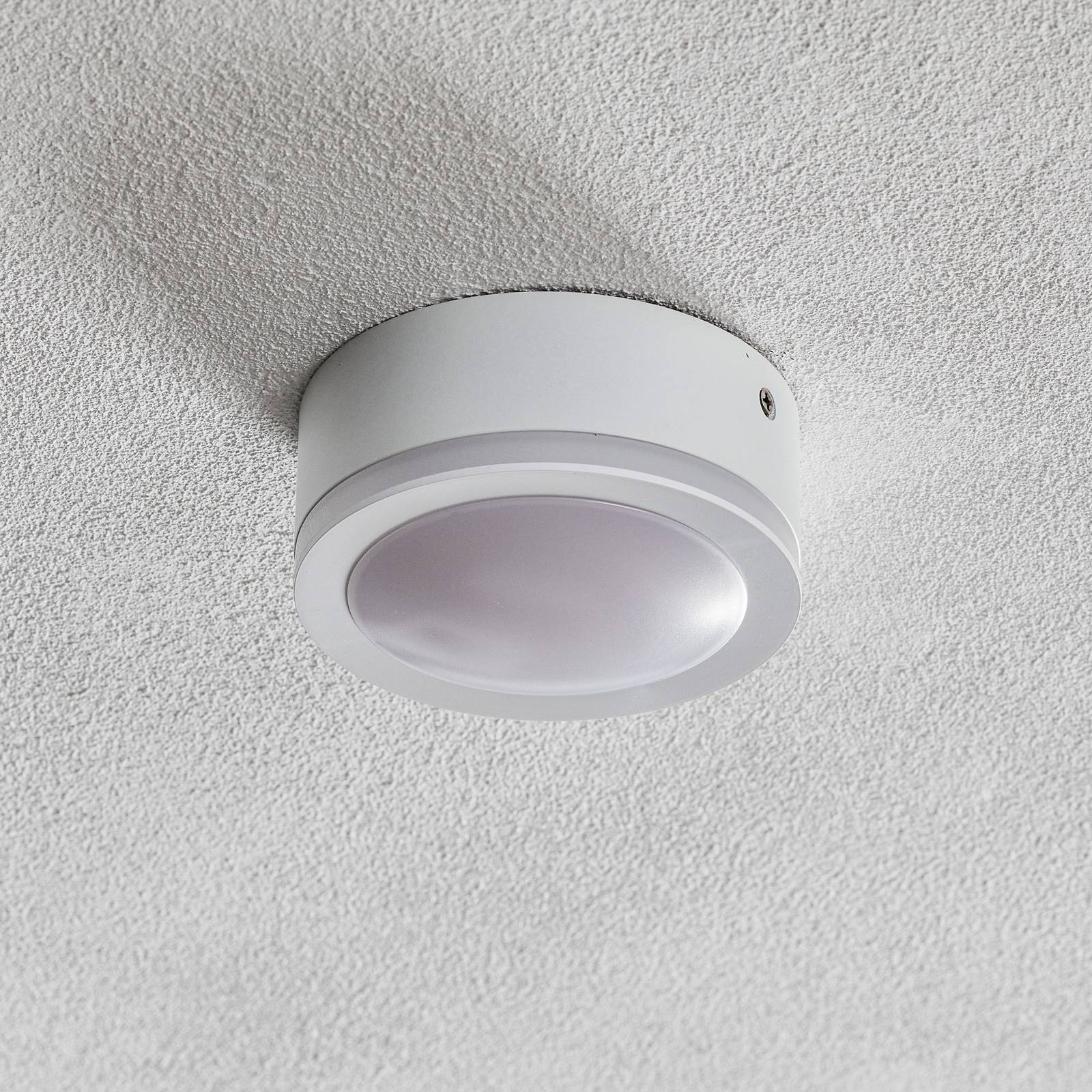 Round Biala LED surface-mounted spotlight, 10 cm Ø from Heitronic